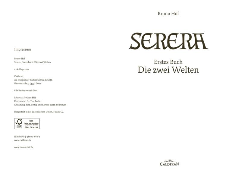 Serera – Erstes Buch: Die zwei Welten